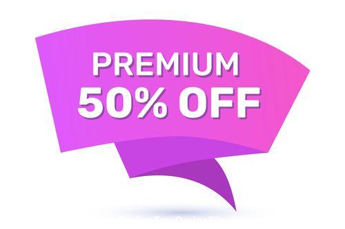 Premium off sale tag vector