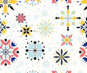 Pretty floral seamless pattern vector