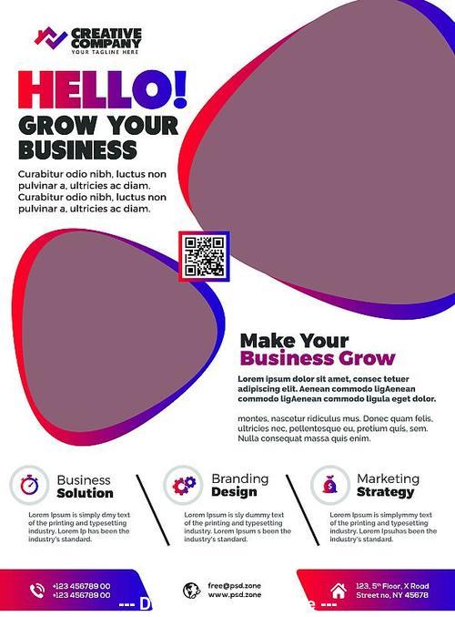 Print Ready Corporate Flyer Design PSD Template
