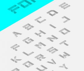 Printed alphabet vector
