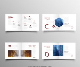 Promotional brochure design cover vector
