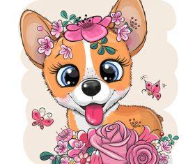 Puppy cartoon 3d illustration vector