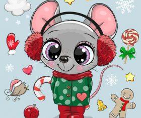 Rat cartoon 3d illustration vector