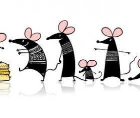 Rat cartoon vector waiting to receive food