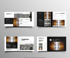 Real estate brochure cover vector