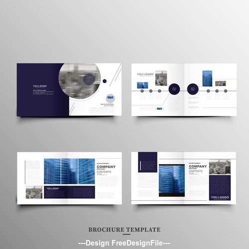 Real estate brochure leaflet vector