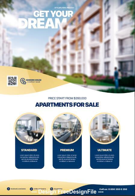 Real Estate Psd Flyer Template Free