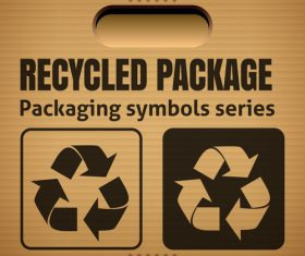 Recycled package packaging symbol vector