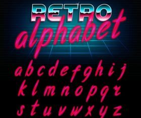 Red alphabet vector