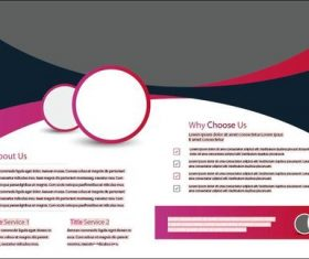 Red and black bifold brochure design vector