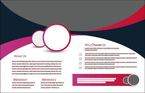 Red and black bifold brochure design vector
