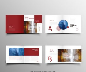 Red background brochure vector