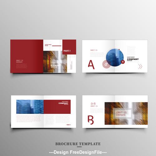 Red background brochure vector