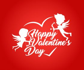 Red background valentines day vector