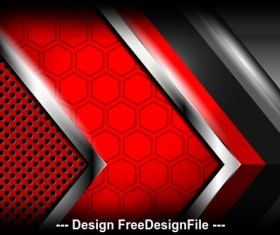 Red modern abstract background vector