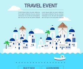 Resort illustration vector