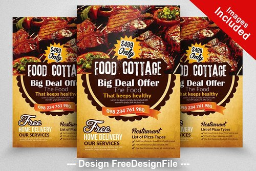 Restaurant PSD Flyer Templates