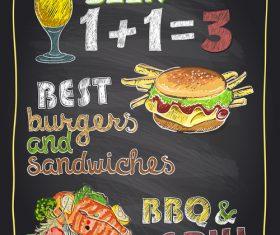 Restaurant food menu vector