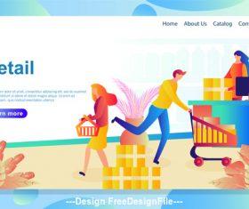 Retail flat banner vector