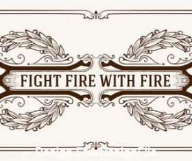 Retro fight fire tag vector