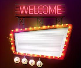 Retro welcome signboard vector