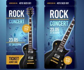 Rock concert flyer banner vector
