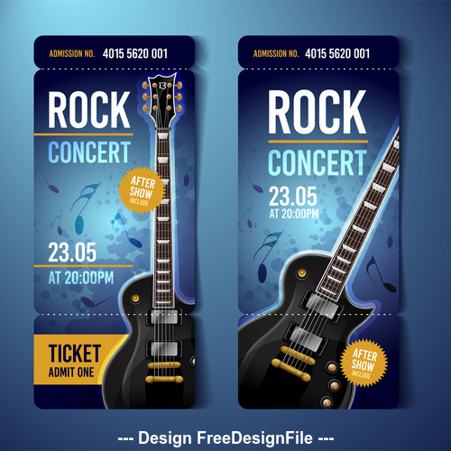 Rock concert flyer banner vector