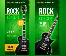 Rock concert ticket banner vector