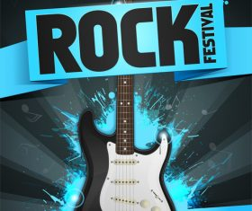 Rock festival flyer blau vector