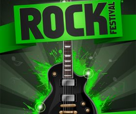 Rock festival flyer gruen vector