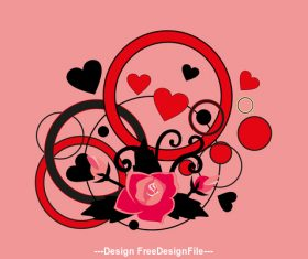 Romantic heart silhouette vector