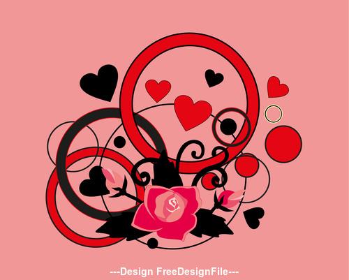 Romantic heart silhouette vector