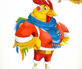 Rooster China Zodiac 3d vector icon