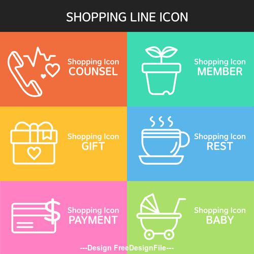 SHOPPING line icon vector