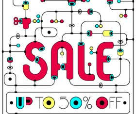 Sale banner modern design vector