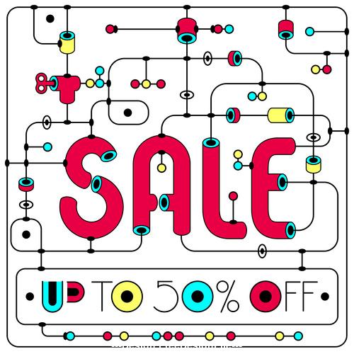 Sale banner modern design vector