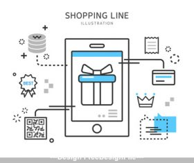 Scan code shopping Illustration vector