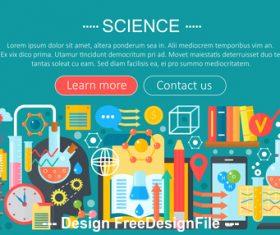 Science flat design concept vector