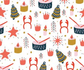 Seamless background warm wishes card vector