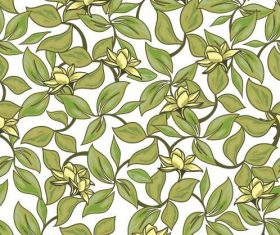 Seamless flower background pattern vector