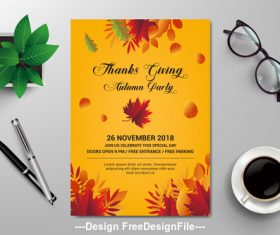 Season flyer design vector template