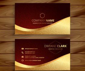 Senior business card design vector