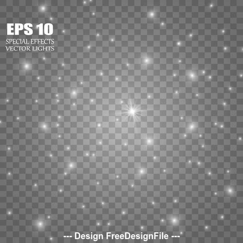 Shining point stars glow light effect vector
