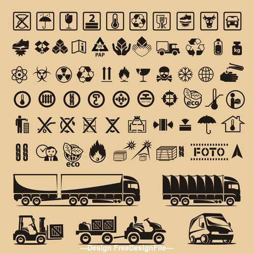 Shipping packaging symbol vector illustration