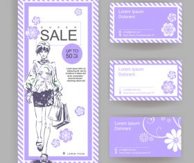 Shop big sale stylish business card vector