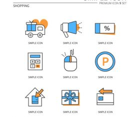 Shopping abstract icon vector