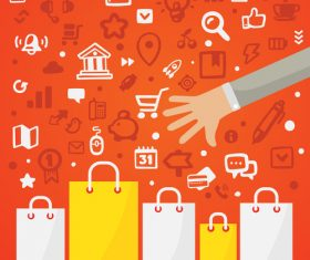 Shopping concept infographics vector