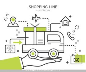 Shopping transportation Illustration vector