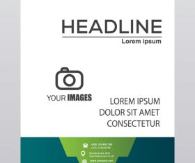 Simple brochure cover template vector