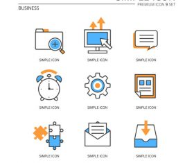 Simple business icon vector